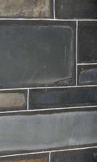 Flat Bluestone veneer with white painted lines